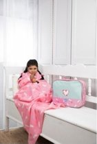 Lief! lifestyle tv fleece deken, zachte deken, warme deken Roze