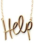 Ketting goud 'Help'