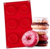 Siliconen bakvorm voor 6 donuts   Donutmaker vorm/mal
