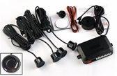 Parkeersensoren met LCD-scherm / 4 stuks zwart / 12V / Parkeersysteem Parkeerpiepers