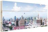 Luchtfoto over Kuala Lumpur Malesie Hout 80x60 cm - Foto print op Hout (Wanddecoratie)