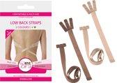 2x Bye Bra BH Low Back Straps – Drie Haaks - Licht Nude en Donker Nude