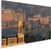 Het vroege ochtendlicht over het Fort Amber in India Plexiglas 30x20 cm - klein - Foto print op Glas (Plexiglas wanddecoratie)