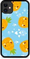 iPhone 11 Hardcase hoesje Love Ananas