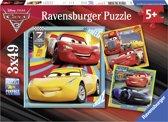 Ravensburger Cars 3 Legendes van de baan - Drie puzzels van 49 stukjes - kinderpuzzel
