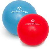 #DoYourFitness - 2x Mini Pilates Bal - »Bola« - Gymnastiekbal: Effectieve training voor spierspijn -  - blauw/rood (23cm & 28cm)