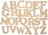 26x Houten alfabet letters 4 cm - Knutselmateriaal/hobbymateriaal/decoratiemateriaal houten letters A t/m Z