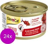 Gimcat Superfood Shinycat Duo 70 g - Kattenvoer - 24 x Tonijnfilet&Tomaat