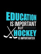 Education Is Important But Hockey Is Importanter: Education Is Important But Hockey Is Importanter Blank Sketchbook to Draw and Paint (110 Empty Pages