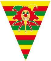 Carnaval vlaggenlijn met clowntje