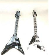 Opblaasbare rock gitaar  zwart