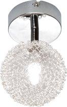 Reality, Spot, Wire 1xG9, max.28W, Glas, Transparant helder, Armatuur: Metaal, Chroom Ø:10,0cm, H:18,0cm
