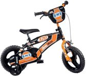 Dino BMX Kinderfiets - Jongens - 12 inch - Black Orange