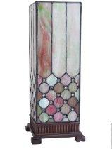 Tafellamp Tiffany 18*18*44 cm / E27/40w Multi | 5LL-5801 | Clayre & Eef