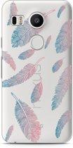 LG Nexus 5X Hoesje Feathers