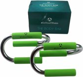 #DoYourFitness - Push-up-Bar - »TheBodyBar« - opdruk steunen -  - groen zilver