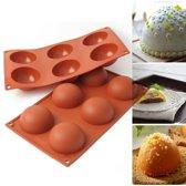 Kitchen Princess - Siliconen Bakvorm Halve Bollen - Halfrond Rond - 6 Stuks