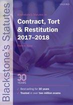 Blackstone's Statutes on Contract, Tort & Restitution 2017-2018