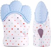 Bijthandschoen - Pastel Blauw - Bijt - speelgoed - handschoen - bijtring - speelgoed - kraamcadeau