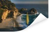 Kustlijn Big Sur in Amerika Poster 90x60 cm - Foto print op Poster (wanddecoratie woonkamer / slaapkamer)
