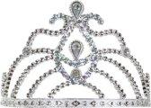 Tiara kam zilver met diamanten