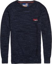 Superdry Orange Label Crew Sweater  Sporttrui casual - Maat M  - Mannen - navy