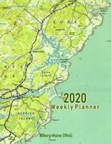2020 Weekly Planner: Kittery, Maine (1944): Vintage Topo Map Cover