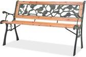 vidaXL - Tuinbank hout met rozenmotief 40261