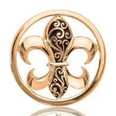 Nikki lissoni C1080GM French Curly lily gold plated M