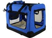 Auto Bench reisBench nylon Bench - honden Bench XXXL  Blauw 102x69x69cm | stoffen bench | vouwbench | softbench - Honden 35-50kilo