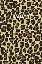 Katelyn: Personalized Notebook - Leopard Print (Animal Pattern). Blank College Ruled (Lined) Journal for Notes, Journaling, Dia