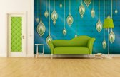 Green | Blue Photomural, wallcovering