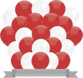 Ballonnen Rood / Wit (30ST)
