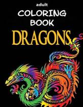 Adult Coloring Book - Dragons