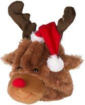 Pluche Kerst rendier 21cm - Rendier Willempie - Het bewegende en zingende rendier