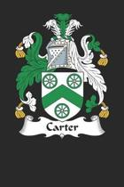 Carter: Carter Coat of Arms and Family Crest Notebook Journal (6 x 9 - 100 pages)