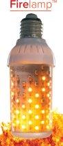 LED Fire lamp met vuur-simulatie HELDER (voor fitting boven)