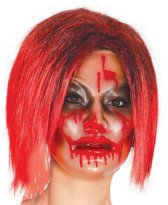 Halloween Masker Transparant Vrouw voorkant