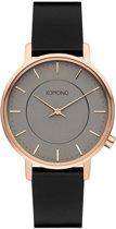 Komono Harlow Rose Gold Black dames horloge W4127 - Zwart