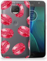 Motorola Moto G5S Plus TPU Hoesje Design Pink Macarons