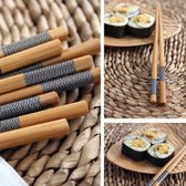 Chopsticks - Bamboe - 5 paar - 22,5cm - Aziatisch - Japanse stijl - Sushi Giftset