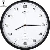 vidaXL Wandklok met quartz uurwerk radiogestuurd 31 cm wit en zwart
