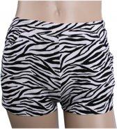 Zebra print hotpants voor dames L/xl