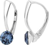 ARLIZI 1256 Oorbellen Swarovski Kristal - Dames - 925 Sterling Zilver - 6 mm - Blauw