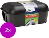 Luxan Rattenbox Met Klem - Ongediertebestrijding - 2 x Zwart