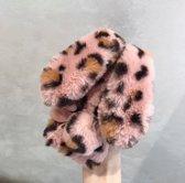 Bunny telefoonhoesje - konijnen hoesje - iPhone 7/8 - Panterprint roze