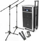 Vonyx ST100 Mobiele installatie met draadloze microfoons microfoonstandaards