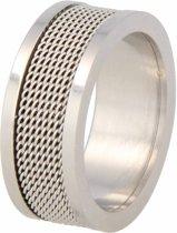 My Bendel stoere ring - BL1017 - Zilverkleurig - 10 mm