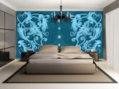 Turquoise | Blue Photomural, wallcovering