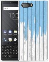 BlackBerry Key2  Hoesje Dripping blue paint
